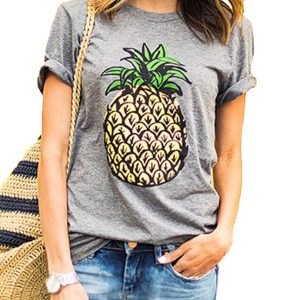 Romastory Women's Cute Print Short Sleeve T-Shirts